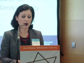 Embedded thumbnail for EU Commissioner Věra Jourová addresses AJC'S Strategy Conference on Combatting Anti-Semitism