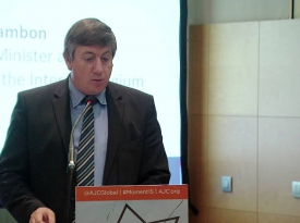 Embedded thumbnail for Jan Jambon addresses AJC's Strategy Conference on Anti-Semitism