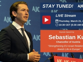 Embedded thumbnail for AJC Hosts Austrian Chancellor Sebastian Kurz in Brussels