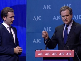 Embedded thumbnail for AJC CEO David Harris on Austrian Chancellor's Speech: History Has Been Made at AJC Global Forum 2018