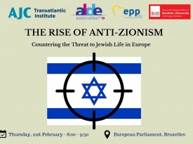 "Embedded thumbnail for Highlights from ""The Rise of Anti-Zionism: Countering the Threat to Jewish Life in Europe"""